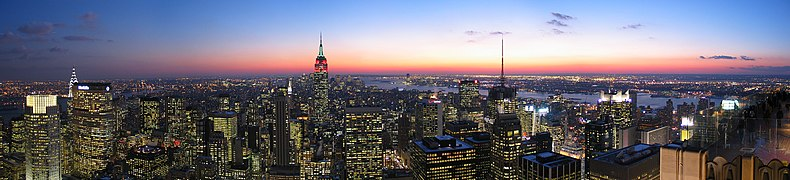 New york wikipedia for Foto new york notte