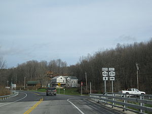 New York State Route 46 - NY 46 northbound at NY 274 in Western