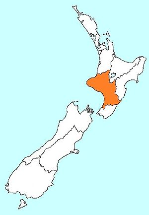 Palmerston North - New Zealand Police Central District is shown in orange.