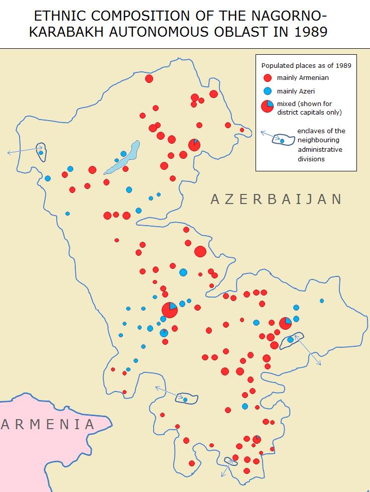 Nagorno Karabakh Ethnic Map 1989