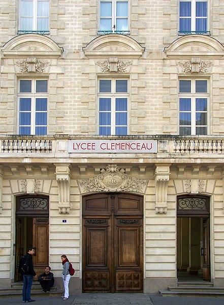 Fichier:Nantes - entrée lycée Clemenceau.jpg