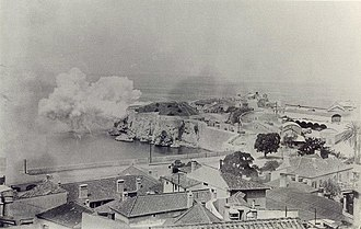 Napier of Magdala Battery - Image: Napier of Magdala Battery firing 1880s