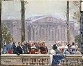 Napoléon III, l'Impératrice Eugénie, le colonel Schmidt, le Prince Murat, le Prince Walewski, Roucher, Fould, le Maréchal de Benedetti, fragment du panorama sur l'Histoire du siècle.jpg
