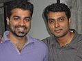 Narain (actor) with his fan.jpg