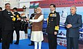 Narendra Modi presented Innovation trophies to awardees, during the 'At Home' reception, organised by the Chief of Naval Staff, Admiral R.K. Dhowan, on the occasion of Navy Day.jpg