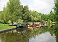 Narrowboats on the Peak Forest Canal, Derbyshire - geograph.org.uk - 572312.jpg