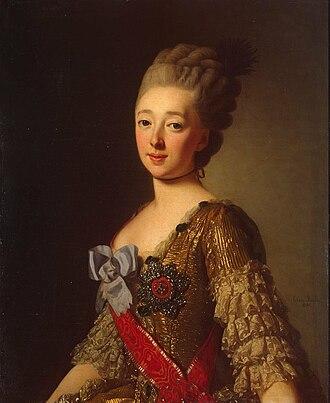 Paul I of Russia - Natalia Alexeievna by Alexander Roslin 1776