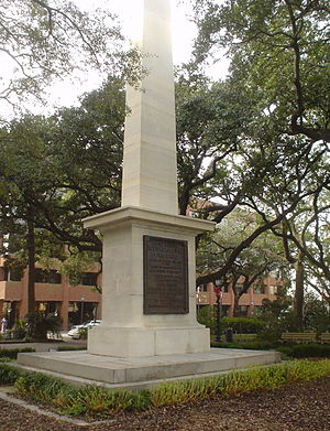 Squares of Savannah, Georgia - Monument to General Nathanael Greene in Johnson Square