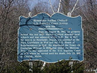 Nathan Clifford - Nathan Clifford Historic Marker