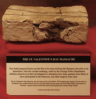 Saint Valentine's Day Massacre - National Museum of Crime and Punishment, Saint Valentine's Day Massacre brick (2868502113)