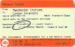 2014 National Rail ticket features