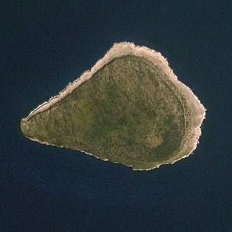 Navassa Island - Navassa Island seen from the International Space Station.