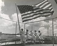 Navy nurses aboard the USS Solace in the Pacific - 1945