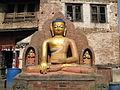 Nepal - Kathmandu - 008 - Seated Buddha at Swayambunath (Monkey) Temple (492208229).jpg