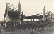 Nevill Ground's cricket pavilion after the arson attack