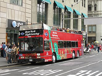 Gray Line Worldwide - Gray Line operating a sightseeing tour in New York City