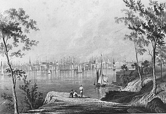 Brooklyn Heights - The view of New York City from Brooklyn Heights, (1778-c.1880)