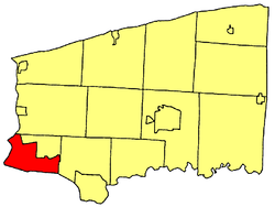 Location within Niagara County的位置