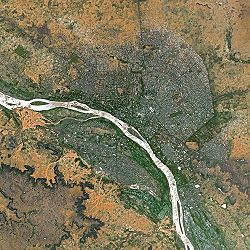 Satellitenaufnahme von Niamey
