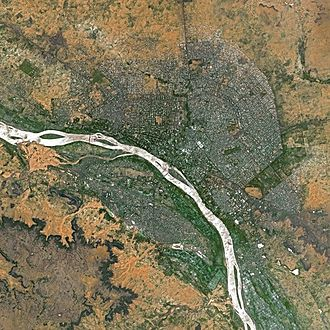 Niamey - Niamey seen from Spot Satellite