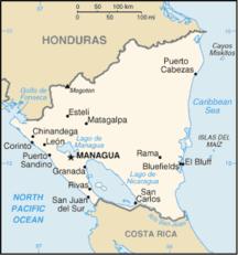 ニカラグア-国名-Nicaragua-map