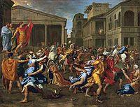 L'enlèvement des Sabines (1637-1638) de Nicolas Poussin.