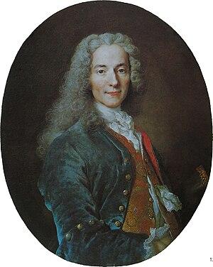 Voltaire - Portrait by Nicolas de Largillière, c. 1724