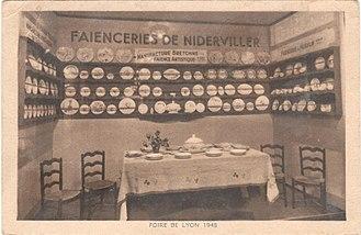 Fair of Lyon - Booth of the Niderviller group at the Lyon fair, 1948