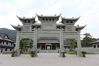 Temple of King Ashoka buddhist temple in Ningbo, Zhejiang, China