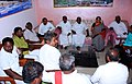 Nirmala Sitharaman and the Minister of State for Road Transport & Highways and Shipping, Shri P. Radhakrishnan holding talks with the representatives of agitating Fisherman Community, in Rameswaram, Tamil Nadu.jpg