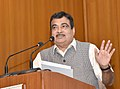 Nitin Gadkari addressing at the release of the NABARD's Publication 'Water Productivity Mapping of Major Indian Crops', in New Delhi.JPG