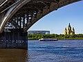Nizhny Novgorod. View from under the Bridge to Alexander Nevsky Cathedral.jpg