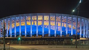 Nizhny Novgorod Stadium at night.jpg