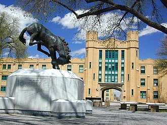 New Mexico Military Institute - Statue in Bronco Plaza