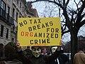 No tax breaks for orangized crime sign.JPG