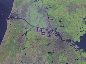 North Sea Canal - Satellite photo