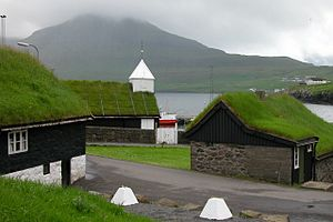 Green roof - Traditional sod roofs can be seen in many places in the Faroe Islands.