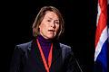 Norges forsvarsminister Grete Faremo vid Nordiska Radets session i Reykjavik. 2010-11-03.jpg