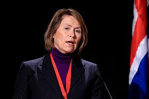 Grete Faremo - Image: Norges forsvarsminister Grete Faremo vid Nordiska Radets session i Reykjavik. 2010 11 03