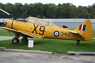 Captains of the Clouds - the NA-64 Yale flown by Cagney's character
