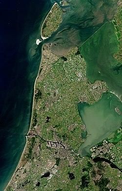 Расположение Северной Голландии