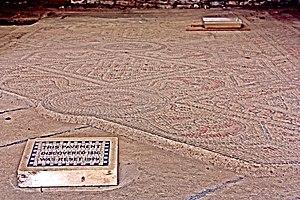 North Leigh Roman Villa - 3rd century mosaic
