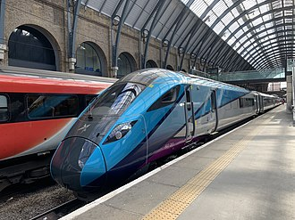 British Rail Class 802 - TransPennine Express 802201 on test at King's Cross station