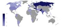 Number of terrorist incidents 2010