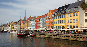 Nyhavn - Colourful facade and old ships along the Nyhavn Canal