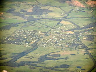 Nyora - Aerial photo from south west