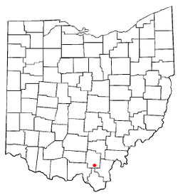 Location of Oak Hill, Ohio