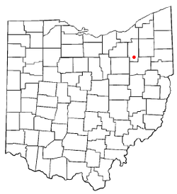 Location of Portage Lakes, Ohio