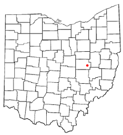 Location of West Lafayette, Ohio