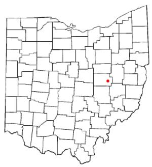 West Lafayette, Ohio - Image: OH Map doton West Lafayette